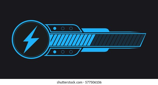 Isolated video game bar on a black background, Vector illustration