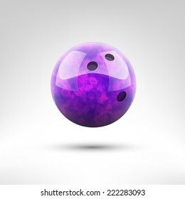 Isolated violet bowling ball vector illustration