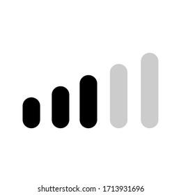 Isolated volume icon on a white background. Speaker volume mark icon. Simple sign audio volume vector icon.