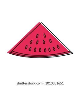 Isolated watermelon design