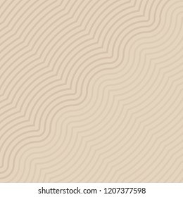 Isolated wavy lines pattern vector. Design gradient light brown on beige background. Design print for textile, fashion, wallpaper, background. Set 6
