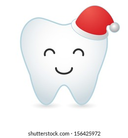 An isolated white tooth vector illustration