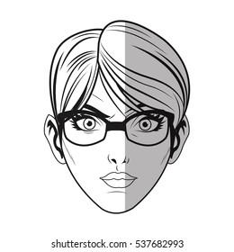 Isolated woman cartoon design
