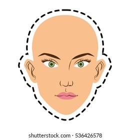 Isolated woman face cartoon design