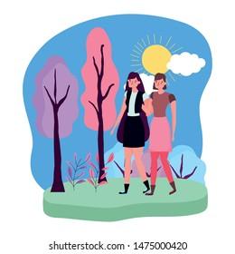 Isolated women vector design vector illustration