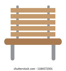 Isolated wooden bench icon