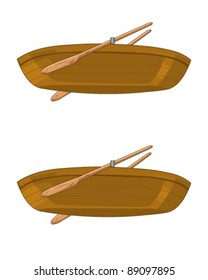 Isolated wooden boat