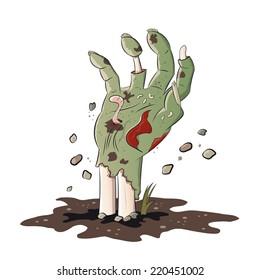 isolated zombie hand