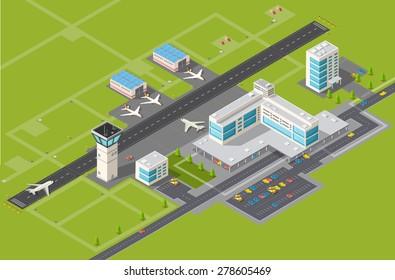 Airport Runway Illustration Images, Stock Photos & Vectors
