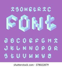 Isometric 3d alphabet.