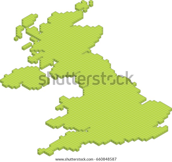 3d Map Of England.Isometric 3d Map United Kingdom England Stock Vector Royalty Free