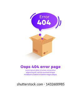 Isometric 404 error with a blank field on the site page