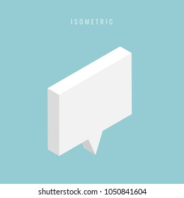 isometric Abstract speech bubble . Vector illustration