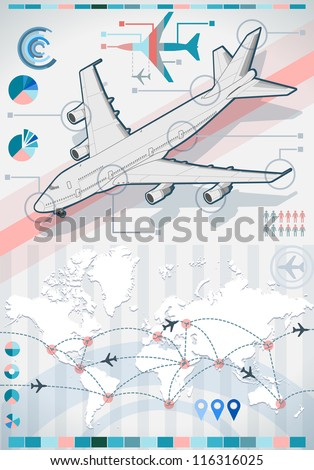 Surprising Isometric Airplane Infographic 3 D Diagram Aviation Stock Wiring 101 Capemaxxcnl
