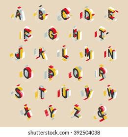 isometric alphabet design