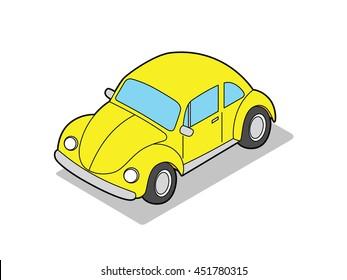 Isometric Beetle Car