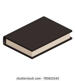 Isometric Black Book Illustration