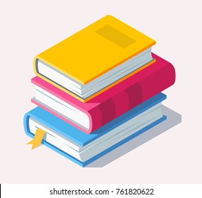 Isometric book icon in flat style. Vector