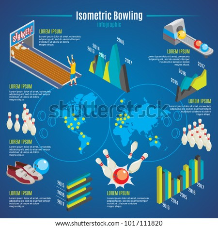 isometric bowling infographic template pins 450w 1017111820 isometric bowling infographic template pins balls stock vector