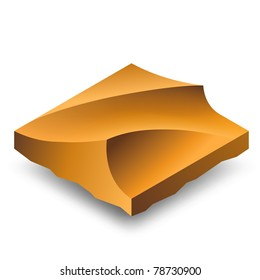 Isometric brown sand dunes (barkhans).