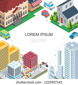 Isometric Cityscape Colorful Template