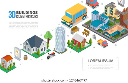 Isometric Cityscape Elements Collection