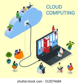 Isometric cloud computing services and technology, data storage.