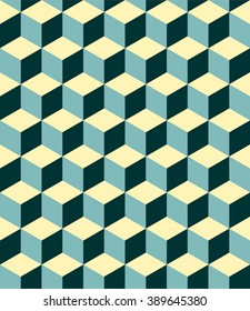 Isometric colorful cube pattern background vector