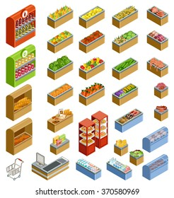 Isometric counters with food
