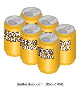 Isometric Cream Soda Can Six Pack