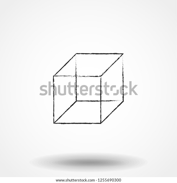 Isometric Cube Vector Icon 3d Square Stock Vector (Royalty
