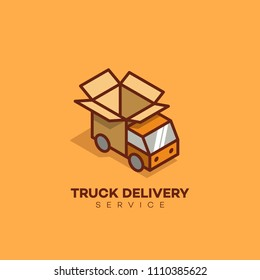 fast delivery logo template design running のベクター画像素材