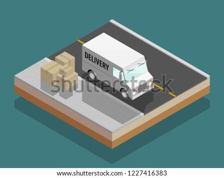 isometric delivery van cargo truck 450w 1227416383 isometric delivery van cargo truck transportation stock vector