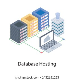 Isometric design of database hosting