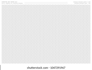 picture about Isometric Dot Paper Printable titled Isometric Dot Paper Shots, Inventory Visuals Vectors