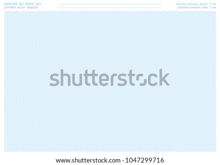 isometric dot paper vector printable sheet stock vector royalty
