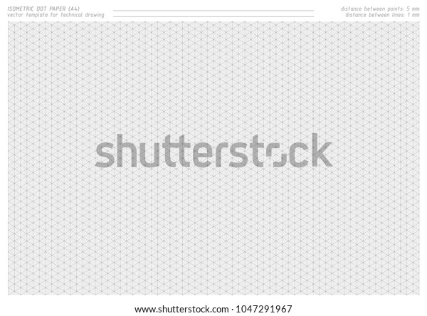 photograph regarding Free Printable Dot Paper referred to as Isometric Dot Paper Vector Printable Practice Inventory Vector