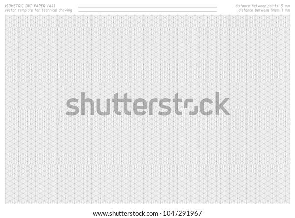 graphic regarding Printable Isometric Dot Paper referred to as Isometric Dot Paper Vector Printable Practice Inventory Vector