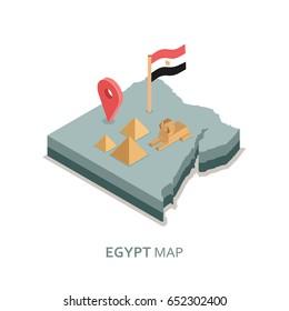 Isometric Egypt map