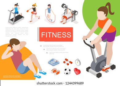 Isometric Fitness In Gym Composition