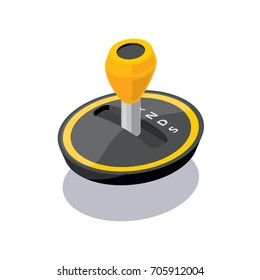 Isometric gear stick icon