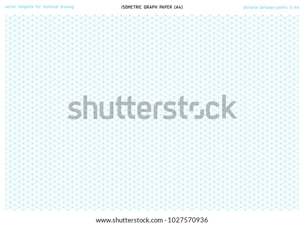photo relating to Isometric Paper Printable titled Isometric Graph Paper Vector Printable Template Inventory Vector