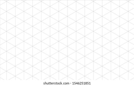 Isometric grid black. Template for your design.