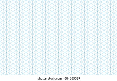 Isometric grid lines blue