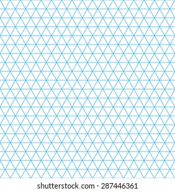 Isometric grid paper. Seamless pattern. Square grid background. Vector illustration.