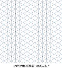 isometric grid template. seamless pattern. isolated vector illustration