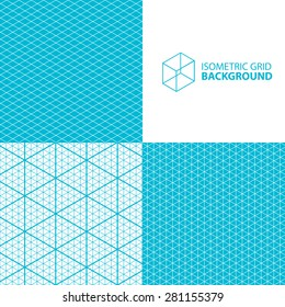 Isometric grid vector background.