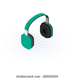 Isometric Headset Vector Illustration