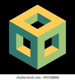 Isometric hollow cube
