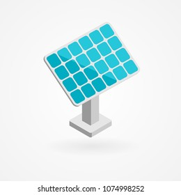 Isometric icon of solar panels.